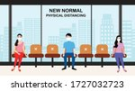 new normal concept and physical ... | Shutterstock .eps vector #1727032723