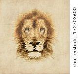 vintage geometric lion design | Shutterstock .eps vector #172703600