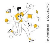 motion graphic design ... | Shutterstock .eps vector #1727051740