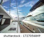 A Luxury Yatchs Are Berthing At ...
