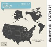 vector basics  detailed map of... | Shutterstock .eps vector #172706819