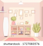 interior of a cozy room in an... | Shutterstock .eps vector #1727083576