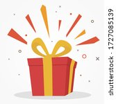 surprise red gift box  birthday ... | Shutterstock .eps vector #1727085139