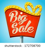 retro sale signboard. vector | Shutterstock .eps vector #172708700