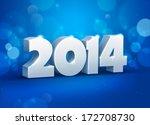 creative new year 2014 design.... | Shutterstock .eps vector #172708730