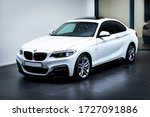 Front Of Bmw 230i White. Shot...
