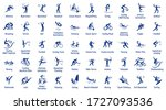 summer sports icons set  vector ... | Shutterstock .eps vector #1727093536