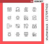 pack of 16 modern outlines... | Shutterstock .eps vector #1727097433