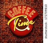 vector vintage cafe sign | Shutterstock .eps vector #172709810