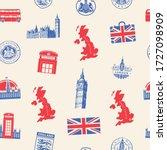 vector seamless pattern on uk... | Shutterstock .eps vector #1727098909