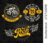 rock themed badges. vector | Shutterstock .eps vector #172710098