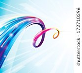 abstract colorful curve digital ... | Shutterstock .eps vector #172710296