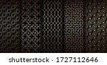 golden oriental seamless... | Shutterstock .eps vector #1727112646