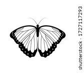 butterfly isolated line art... | Shutterstock .eps vector #1727117293