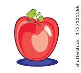 apple  clip art.in the graphic ... | Shutterstock .eps vector #1727121166