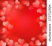valentine's day illustration  | Shutterstock .eps vector #172712504