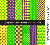 mardi gras purple  green and... | Shutterstock .eps vector #172712693