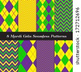 mardi gras purple  green and... | Shutterstock .eps vector #172712696