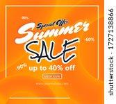 summer sale fluid orange... | Shutterstock .eps vector #1727138866