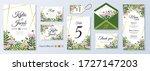 set wedding invitation  menu ... | Shutterstock .eps vector #1727147203