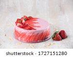 Homemade Strawberry Cake For...
