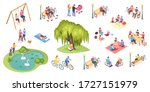 people in park leisure and... | Shutterstock .eps vector #1727151979