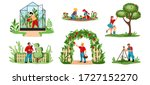 planting. cartoon agricultural... | Shutterstock .eps vector #1727152270