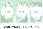 set of abstract leaves vector... | Shutterstock .eps vector #1727153719