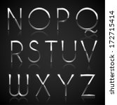 Metallic Silver Alphabet...