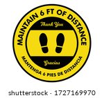 maintain social distancing ... | Shutterstock .eps vector #1727169970