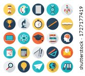 education and school flat icons ... | Shutterstock .eps vector #1727177419