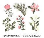 flower graphic design. flower... | Shutterstock . vector #1727215630