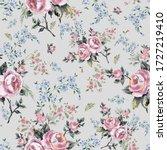 bright seamless pattern flowers ... | Shutterstock . vector #1727219410