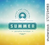 summer holidays label or badge... | Shutterstock .eps vector #1727234083