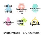 summer holidays typography... | Shutterstock .eps vector #1727234086