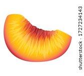 vitamin piece peach icon.... | Shutterstock .eps vector #1727234143