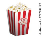 popcorn basket icon. cartoon of ... | Shutterstock .eps vector #1727234179