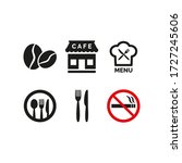 restaurant and cafe icons set... | Shutterstock .eps vector #1727245606
