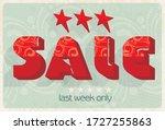 bright sale banner  vintage...
