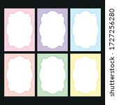 a set of templates for... | Shutterstock .eps vector #1727256280