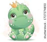 cute little dinosaur portrait...   Shutterstock .eps vector #1727274853