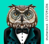 owl. creative  colorful  hand...   Shutterstock .eps vector #1727291206