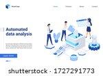 isometric data analysis vector... | Shutterstock .eps vector #1727291773