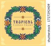 tropical summer floral frame ... | Shutterstock .eps vector #1727292409