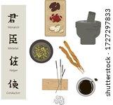 chinese medicine  herbal tea...   Shutterstock .eps vector #1727297833