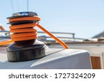 Close Up Of A Black Winch With...