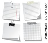 realistic lined sticky notes... | Shutterstock .eps vector #1727346520