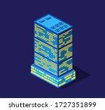 a smart 3d city illustration on ... | Shutterstock .eps vector #1727351899