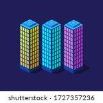 a smart 3d illustration city... | Shutterstock .eps vector #1727357236