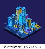a smart 3d illustration city on ... | Shutterstock .eps vector #1727357239